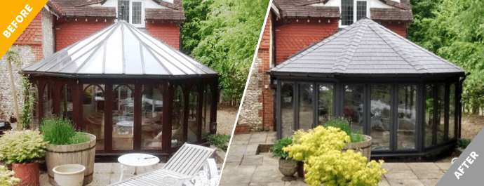 5 reasons to replace your glass conservatory roof with tiles