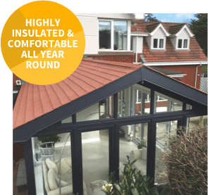 Solid conservatory roofs are highly insulated