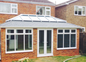 Tiled conservatory with roof lantern