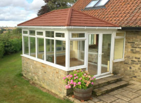 light tiled conservatory roof
